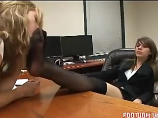 Lesbian Boot Removal and Nylon Worship