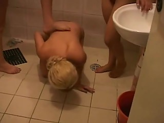 Youing Girl Is Beaten Up By Two Mature Woman In The Shower