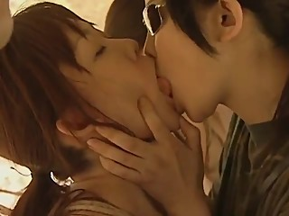 asian lesbian kissing long tongue - army