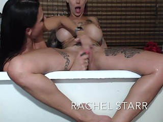 Bath Time Cum Show With Rachel Starr