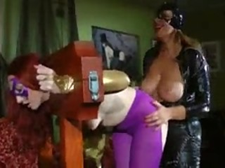 cat woman has fun with batgirl