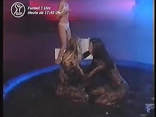sexy lesbian mud wrestling
