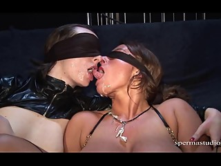 Spermastudio - Sexy Susi and Gundula Part 2 - Messy Blindfold Gangbang Cum