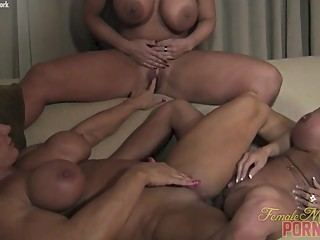 3 Blonde fitness babes Playing with each other