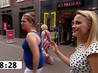 Foot licking from dutch tv show