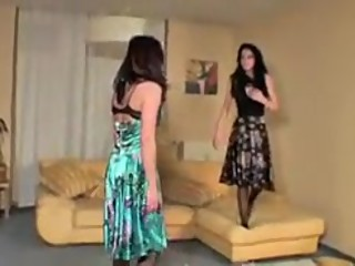 Classic Catfight in dress