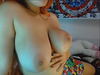 redhead babe big tits use ohmybod