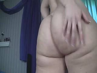grey and purple with ass shaking