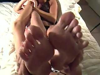 Feet rubbing