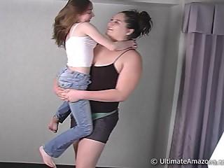 Nadia lifts up Jessica