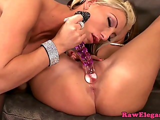 Glamcore lesbian dildofucking pussy and ass