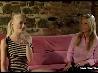 Busty Blonde Carol in a Private Lesbian Casting