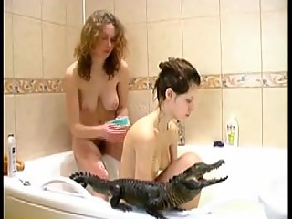 Teens Bathing