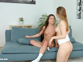 Anal play and fingering with Anita B and Olivia Grace Cum