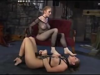 Lesbian Mistress playing with her slavegirl
