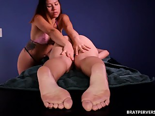 Lesbian Ass Massage Logan Lace