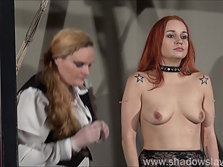 Redhead play piercing slave Marys lesbian bdsm and needle