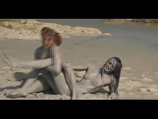 Sandy Mud Wrestling
