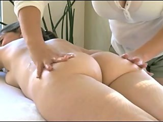 Lesbain Massages Milf's Lactating Tits