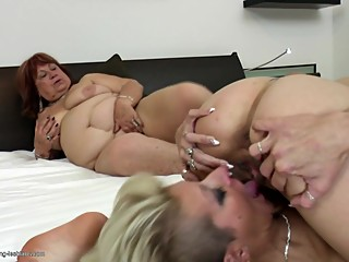 Moms wifes and grannies fuck young girls
