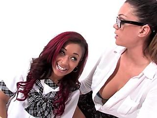 Sexy schoolgirls Skin Diamond & Alison Tyler fuck