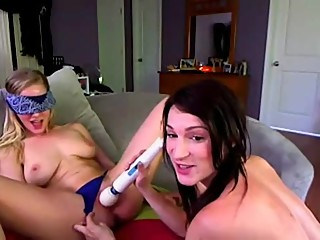 lesbian girl fun time with hitachi play