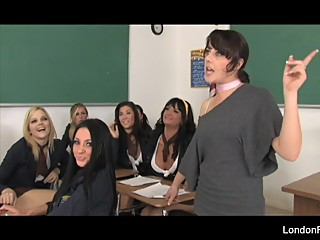 Schoolgirl orgy with London Keyes, Alexis Texas, and more!