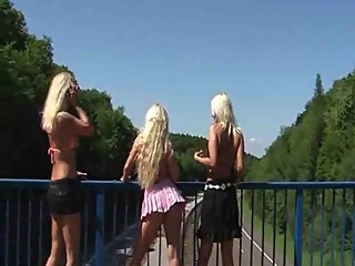 WHORES PERFORM OVER HIGHWAY (estefania)