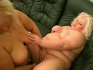 Big Fat BBW Lesbians licking their wet Pussies-2