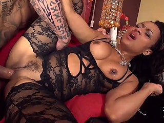 LECHE 69 Latin Ebony takes it fat and hard