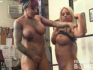 Dani Andrews and Megan Avalon Play in the Gym