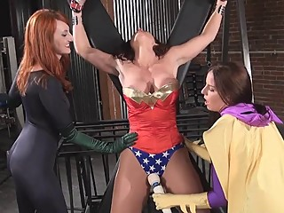 Superheroines All Tied Up