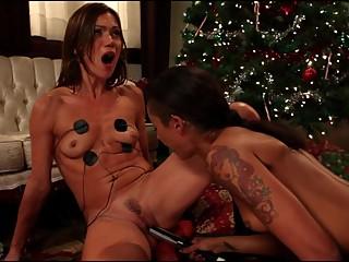 Two sexy lesbian estim (e-stim) sex, electro, femdom part1