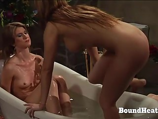 Mistress Spy On Two Slaves Taking A Bath
