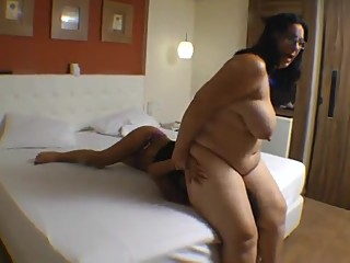Thick Brazilian Mistress squishes her slave