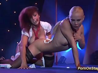lesbian porn orgy in public