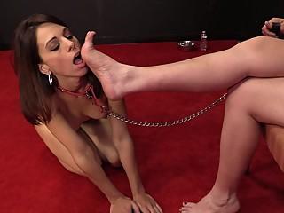 Feet worship leash