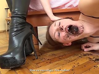 muddy boot lesbian licking