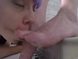 Lesbian foot worship in the shower