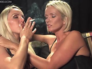 Smoking and kissing girl 1