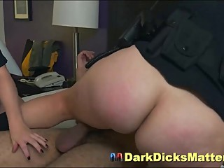 Dirty Female Police Officers Sucking Criminal With Huge Black Penis
