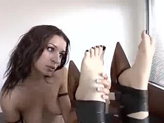Ann Marie Rios & Monique Alexander Sexy Lesbian Foot Worship