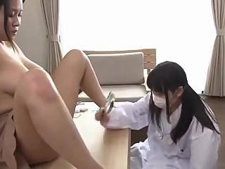 Mischievous Lesbian Doc tricks the sexy naive patient  restive