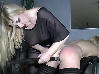Domina and her submissive lesbian toy
