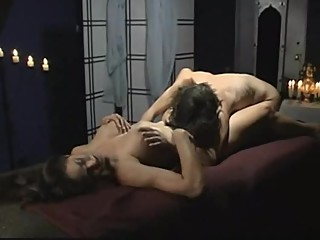Lesbians Playing Lickey-Touchy in Candlelight