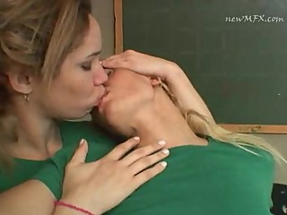 Hot Brazilian Girls Classroom kissing A23