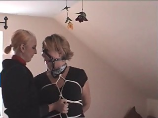Natalie tied and teased